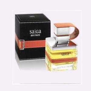 ادکلن ساگا مردانه با قاب چرمی شکل