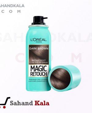 اسپری پوشاننده موهای سفید لورآل پاریس رنگ قهوه ای تیره