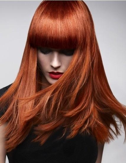 رنگ موی ترکیبی قهوه ای مسی روشن