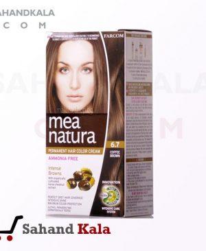 رنگ موی ارگانیک و گیاهی mea natura قهوه ای 6.7