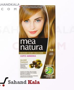 رنگ موی ارگانیک بلوند کاکائو شماره 7.8