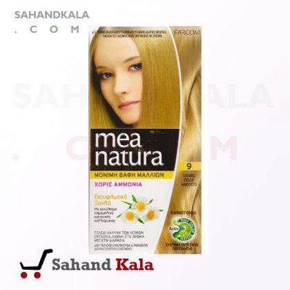 رنگ موی ارگانیک و گیاهی mea natura طلایی 9