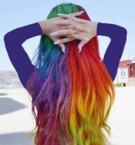 رنگ موی فانتزی ترکیبی
