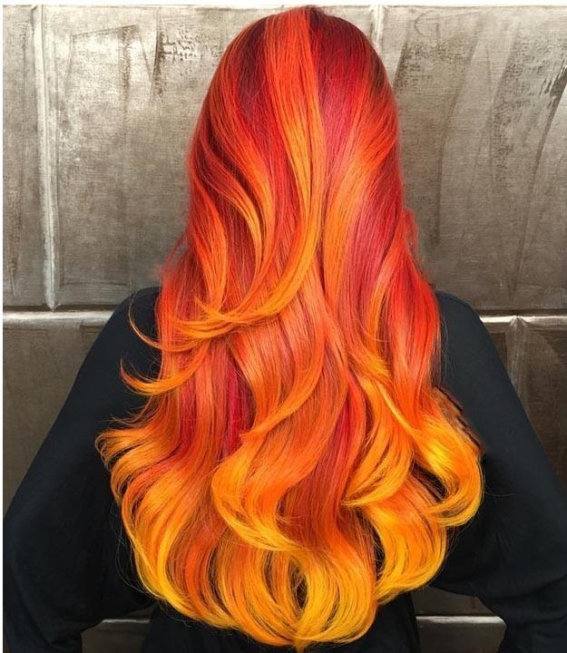 رنگ موی مسی آتشین