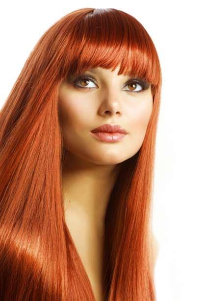 رنگ موی مسی نارنجی