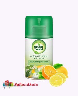 اسپری خوشبوکننده گرین ورد با رایحه ی لیمو وپرتقال