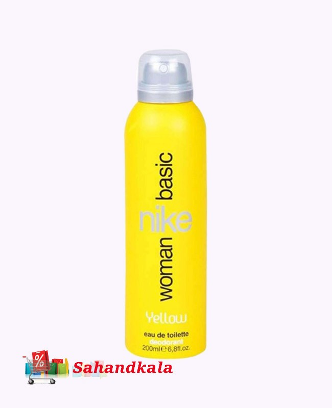 اسپری بدن زنانه نایکی زرد