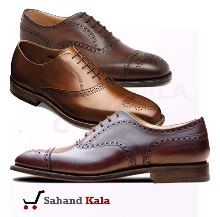 کفش مردانه دوخت تبریز رنگ قهوه ای