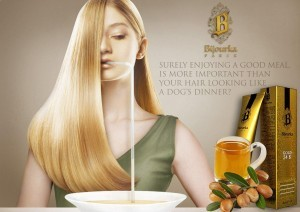 رنگ مو با طلای 24 عیار